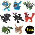 8 Pcs/set How To Train Your Dragon Action Figures Classic Toys Model Toothless Dragon Night Fury Toothless Kids Toys