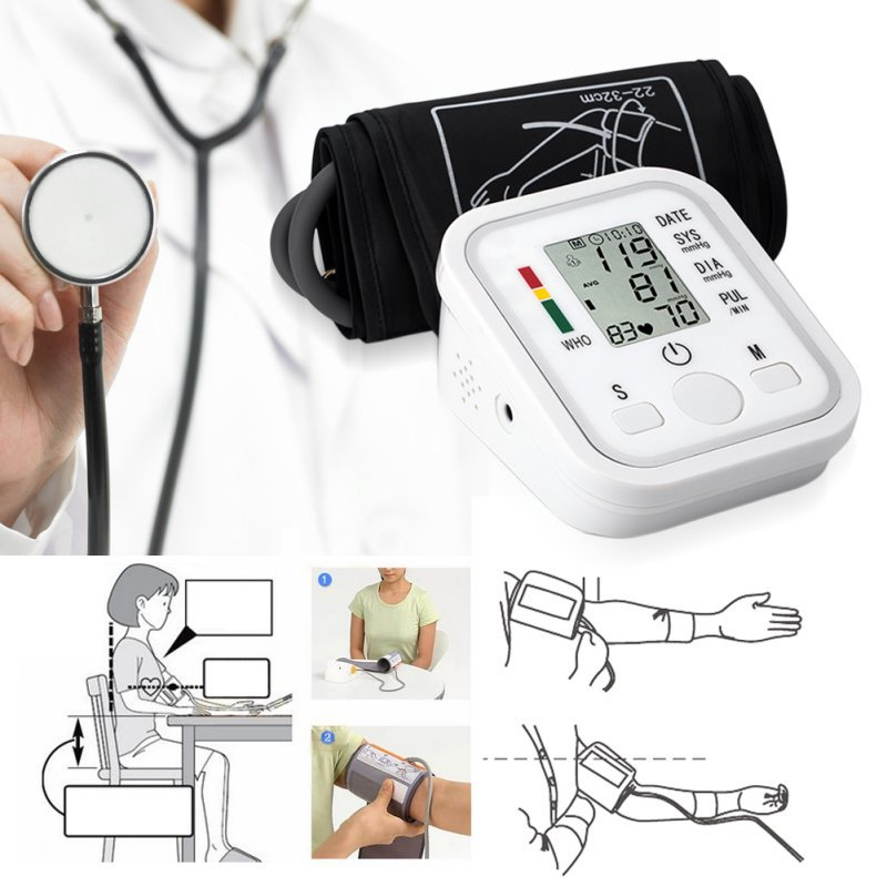 Bluetooth Electronic Sphygmomanometer Portable Blood Pressure Health Care Digital Blood Pressure Monitor Meters for Home Use home use blood pressure monitor health care heart monitor arm blood pressure monitor sphygmomanometer nonvoice