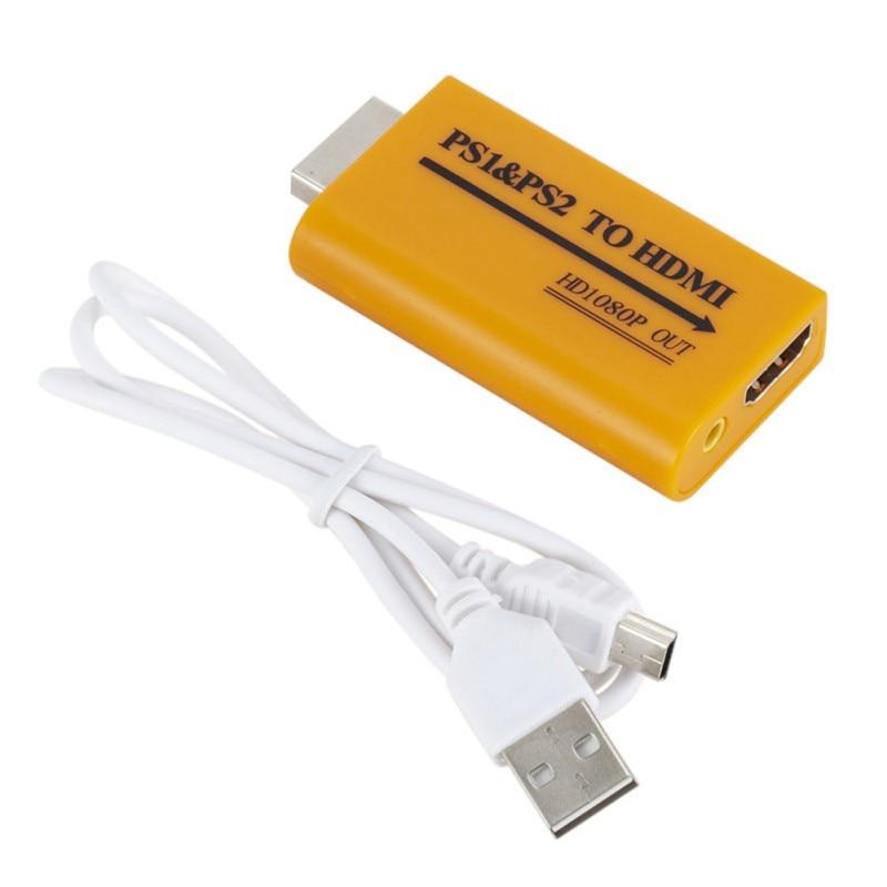 Pour la mise à niveau PS1/PS2 vers HDMI prend en charge la sortie Audio 1080P pour les accessoires de convertisseur PS1 vers HDMI PS2 vers HDMI HD
