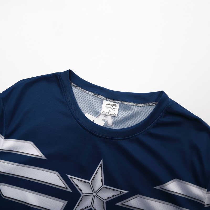 Merci di alta qualità di alta qualità T-Shirt bicicletta camicia t-shirt capitan America, spider ferro, iron man, batman T-Shirt di marca