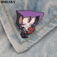DMLSKY Cartoon Pins Invader ZIM Enamel and Brooches Women Men Lapel Pin Backpack Badge Tie Hat Jewelry M3707