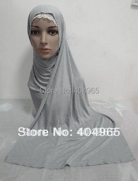 H307 high quality plain cotton elastic jersey long scarf,assorted colors