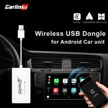 Carlinkit беспроводной Смарт ссылка Apple CarPlay ключ для Android навигации плеер мини USB Carplay палка с Android авто