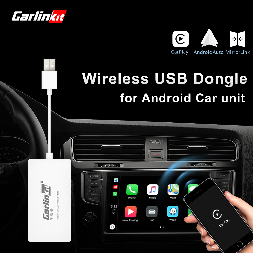 Carlinkit Wireless Smart Link Apple CarPlay Dongle for Android Navigation Player Mini USB Carplay Stick with Auto