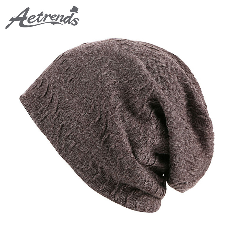 [AETRENDS] 2017 New Style Skullies Beanies Hat For Man Warm Winter Beanie Cap Hip-Hop Hats toucas gorros Drop Shipping Z-0397 cokk new winter cartoon rabbit knitting wool soft cap female skullies and beanies hats for women cap hip hop hat gorros toucas