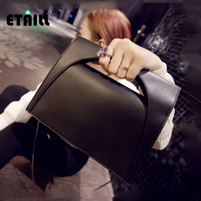 96af3eb02 ETAILL Fashion Solid Women s Clutch Bag Golden Chain Crossbody Messenger Bag  Pu Leather Envelope Evening Bag