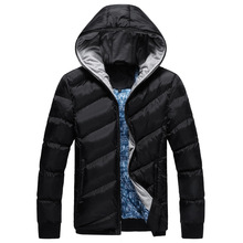 high quality men's winter jacket clothing Slim thickening 100% cotton Hooded Large size M-3XL Comfortable warmth WZ301