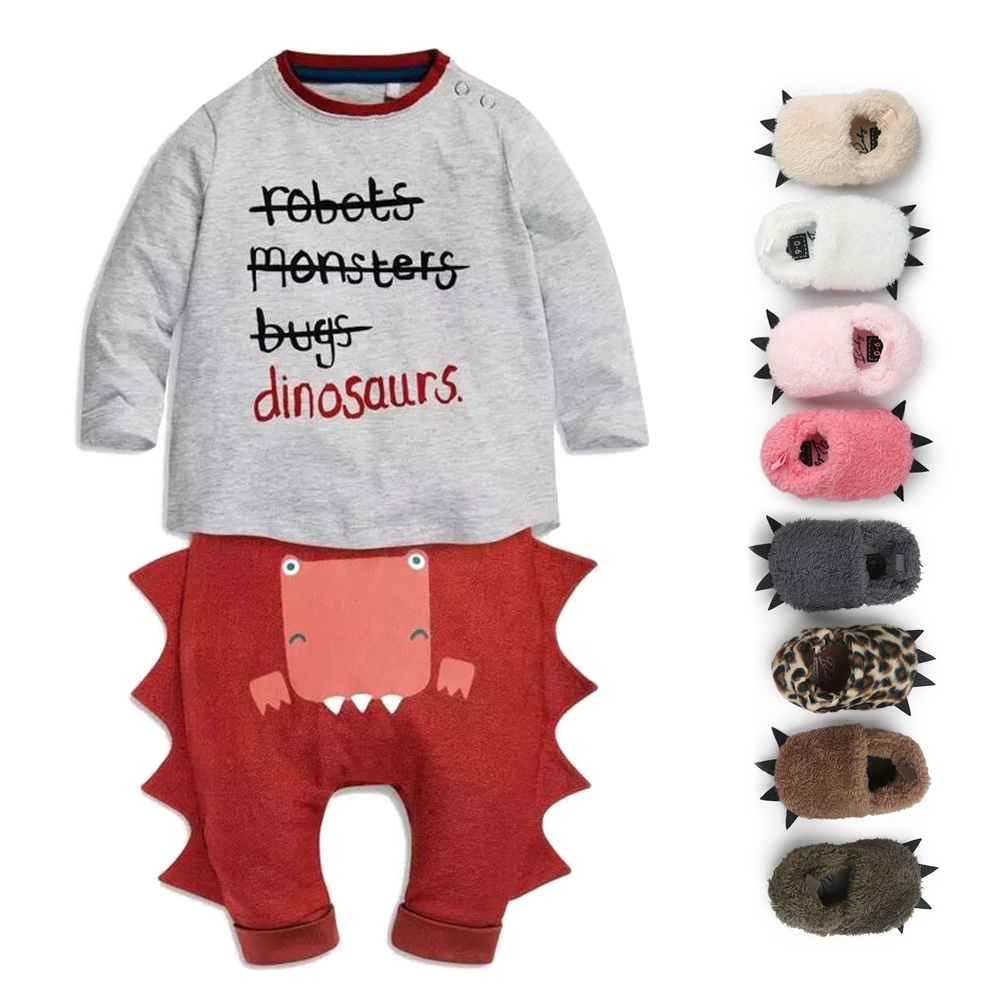 2017 Free Gifts With The Dinosaur Modelling Design Baby Romper Unique Personality Warm Winter Baby Clothes