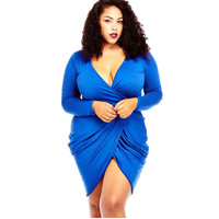 The New Foreign Trade Net Color Women Dress Plus Size 3xl Leisure Package Hip Dress Sexy