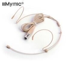 Condensador profissional headworn fone de ouvido microfone com 4 pinos xlr ta4f conector para shure 4pin sem fio corpo pacote transmissor