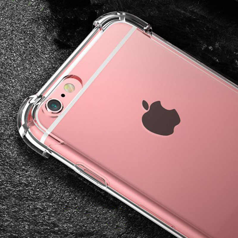 2018 Original Shockproof Silicone Tpu Transparent Phone Fundas Coque For Iphone 7 7plus 6 S 6s 6plus 8 8plus X 5s Xs