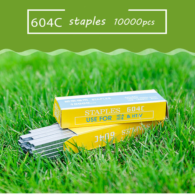 Lange 10000pcs Tapetool Tapener Tying Staple pin Nail Tape Tool fruit tree Secateurs Machine Pack Plant Garden Trunk Connect A20