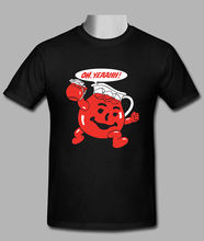 Hot Kool Aid Mens Custom Black T-shirt Size S-3XL Quality Print New Summer Style Cotton Top Tee Interesting Pictures T Shirt