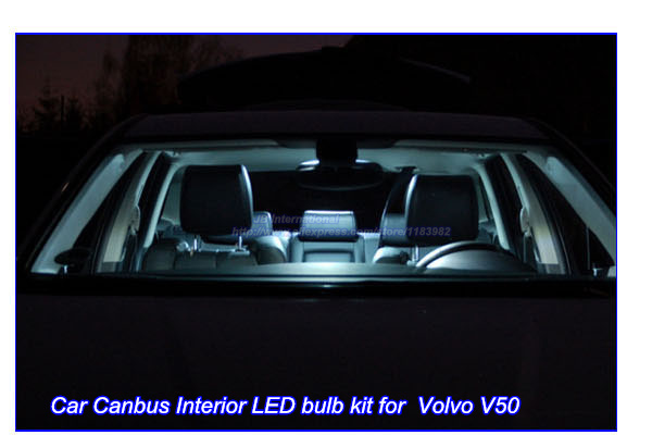 deechooll 7 stks auto interieur verlichting lamp voor volvo v50 wit canbus led verlichting