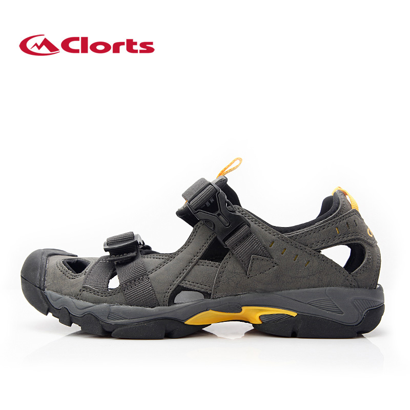 ФОТО 2017 Clorts Men Sport Water Shoes Breathable Hiking Aqua Sandals Men Water Mesh Shoes for Summer SD-206C/D