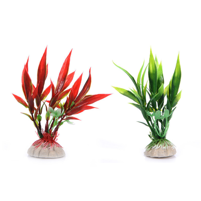 Artificial Aquarium Plant Decoration Fish Tank Submersible Flower Grass Ornament Decor For Aquarium Underwater Plant 10-30cm 4