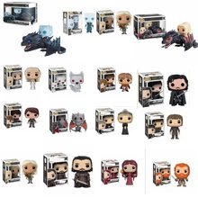 POP Game of Thrones Jon Snow Daenerys Targaryen Drogon Fantasma Tyrion Lannister Vinyl Action Figures Giocattoli per I Bambini(China)