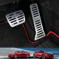 Aluminum Alloy Auto Gas Pedal Car Brake Pedal for Mazda 3 6 Atenza Axela 2014 2015 CX 4 CX5