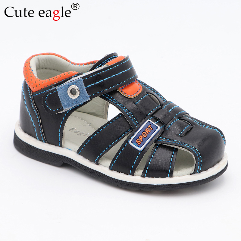 Cute Eagle Summer Girls Orthopedic Sandals Pu Leather Toddler Kids Shoes for Gir