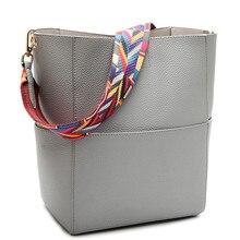 Luxus-handtaschenfrauen-designer Marke Berühmten Weiblichen damen Frauen Umhängetasche Frauen Leder Crossbody Tasche Einfache Eimer Tasche