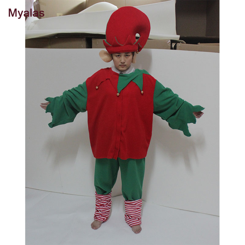 Christmas Elf Mascot Costume Party Costumes Mascot Costume Outfit Suit Fancy Dress for winter Holiday Party Carnival