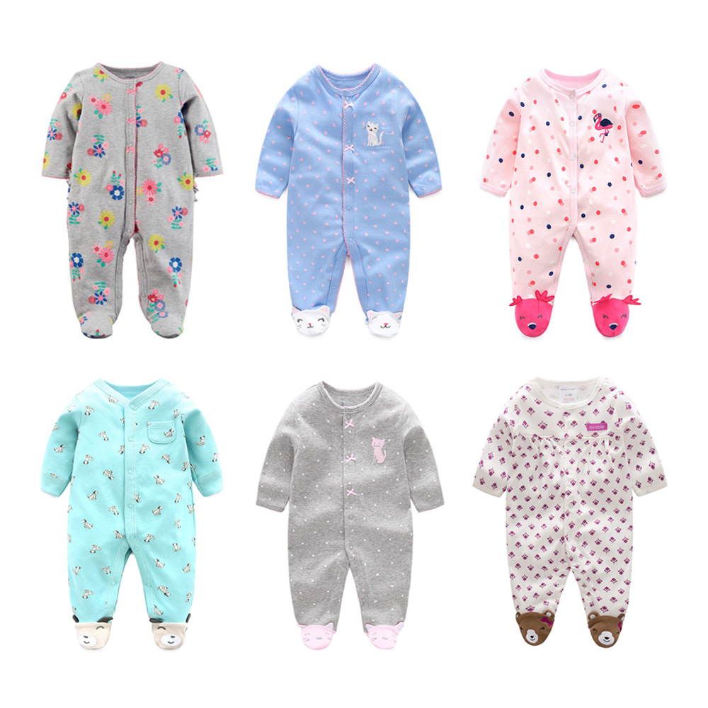 Frank Bebes Pajamas Baby Clothes Infants Boys Pajamas Overalls Jumpsuits Bebes Winter Clothing Cotton Newborn Girls Clothes 3m-12m