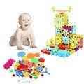81 pçs/set crianças tijolos do brinquedo de plástico blocos de construção diy montagem brinquedos clássicos cedo aprendendo brinquedos educativos frete grátis