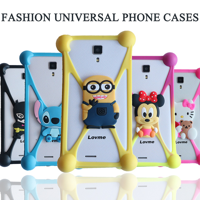 3D Cute Cartoon Minions Stitch Soft Silicon Rubber Case Back Cover for TurboPhone4G 2209 Ulefone Power Future Be Touch 3 Vienna