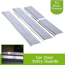 1Set Chrome Parts Stainless Steel Inside Door Sill Scuff Plates Car Door Entry Guards For Jeep Grand Cherokee 2011-2015 new 6pcs steel inside door sill scuff plate cover guards for jeep patriot compass 2011 2015