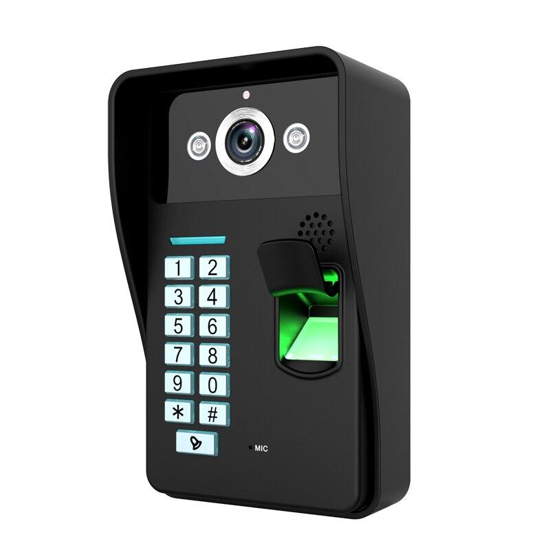 Yobang безопасности 7 дюймов отпечатков пальцев видео-телефон двери Ночное видение Дверные звонки Камера установлен Видеодомофоны Мониторы с ...
