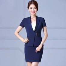 Womens business suits office uniform designs female OL S-3XL blazer with skirt two piece set skirt suits professional uniforms