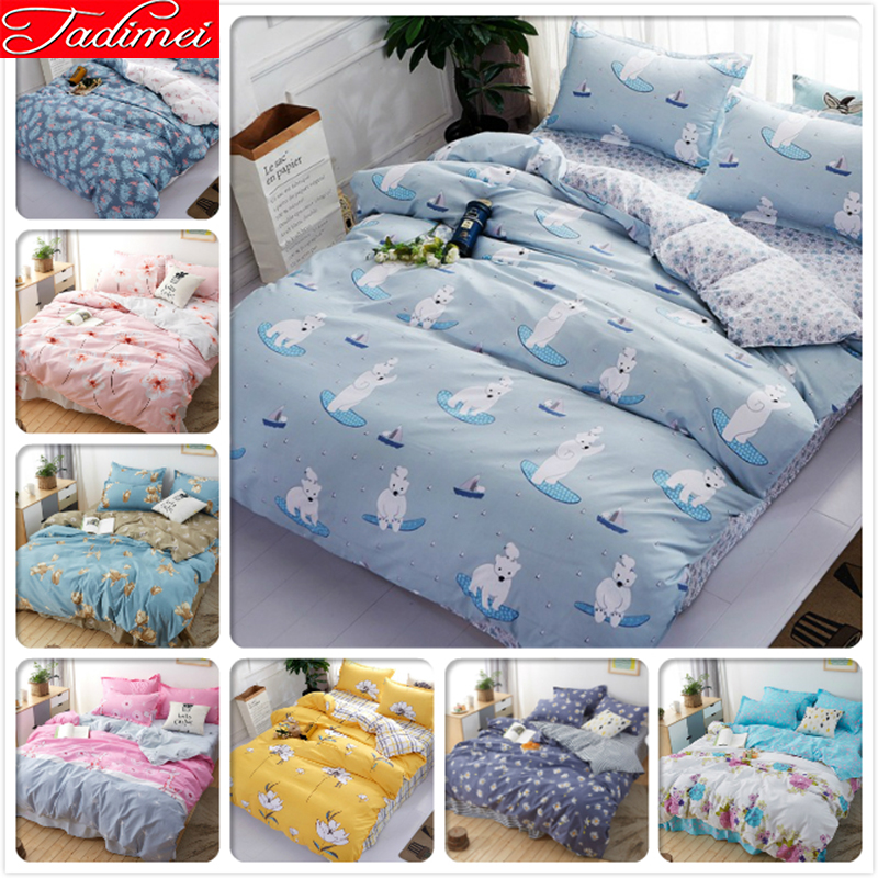 3/4 pcs Bedding Set Adult Kids Child Soft Cotton Bed Linen Single Twin Full Queen King Size Quilt Duvet Cover Bedspreads 150x2003/4 pcs Bedding Set Adult Kids Child Soft Cotton Bed Linen Single Twin Full Queen King Size Quilt Duvet Cover Bedspreads 150x200