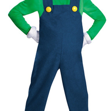 Sealeaf Halloween Adult Man Super Mario Costume Red Green Mario Luigi Brother Outfit