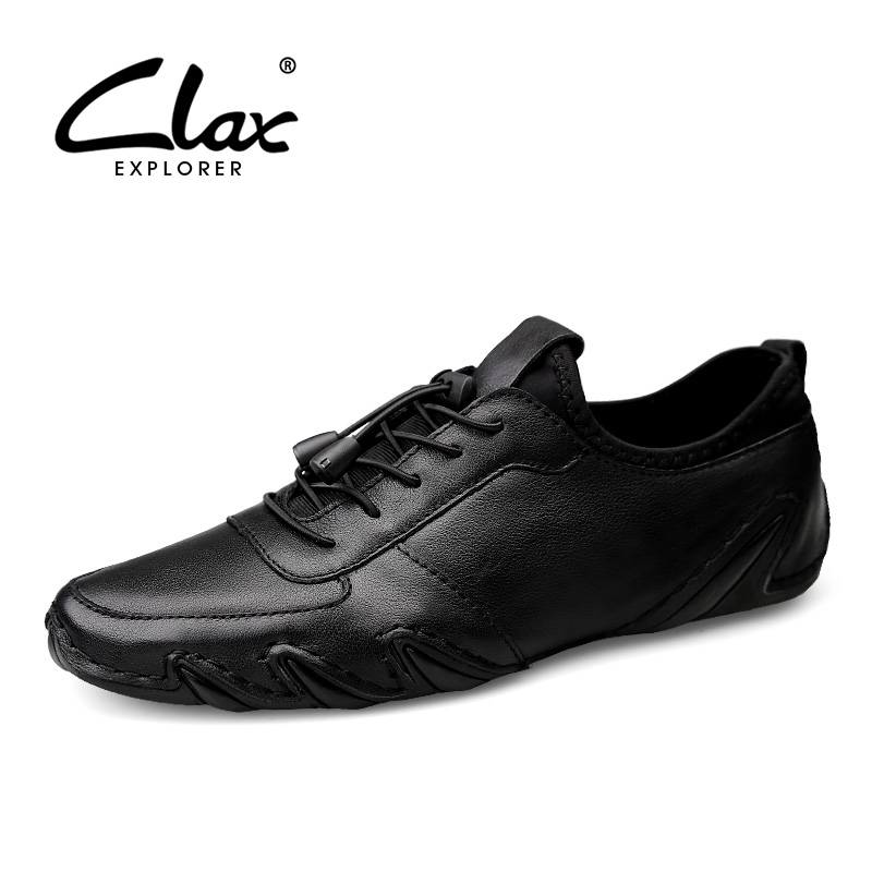 CLAX Men s Shoes Genuine Leather 2019 Spring Summer Leather Shoe Male Designer Loafers Walking Footwear