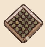 2017 the new hot style jade pad heating pad germanium stone pad ms tomalin buffer ochre office comfortable massage cushion