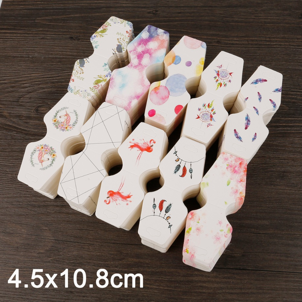 100pcs 4.5x10.8cm Colorful Paper Cards Printing Jewelry Necklace Bracelet Hang Tag Jewelry Display Cards Label Tag High Quality Goods Beads & Jewelry Making Back To Search Resultsjewelry & Accessories