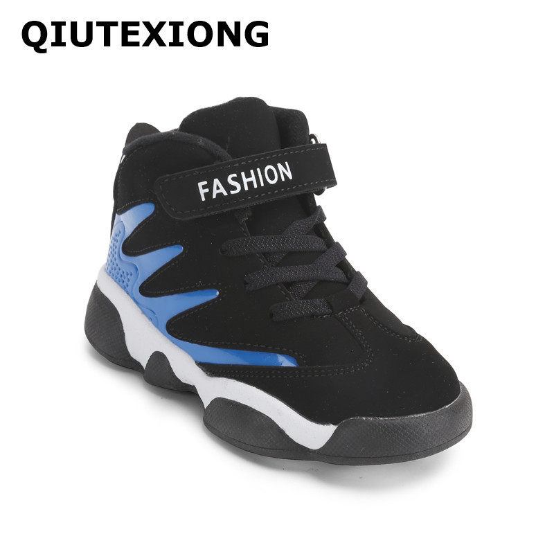 Boys Shoes Durable Outdoor Sneakers Ankle Strap Sport Shoes Kids Casual Shoes High Top Absorption Anti slip Boots Children S