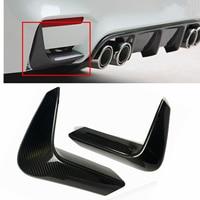 Real Carbon Fiber 2pcs Car Rear Bumper Lip Splitter Diffuser Lower Corner Cover Trim Spoiler For BMW F80 M3 F82 F83 M4 2015 2018
