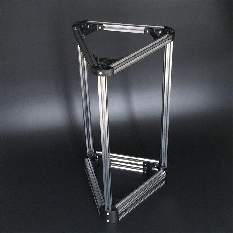 Mini Kossel 3D imprimante aluminium 2020 cadre CNC ensemble complet Kit taille d'impression 220 MM pour bricolage Delta Rostock RepRap imprimante 3D
