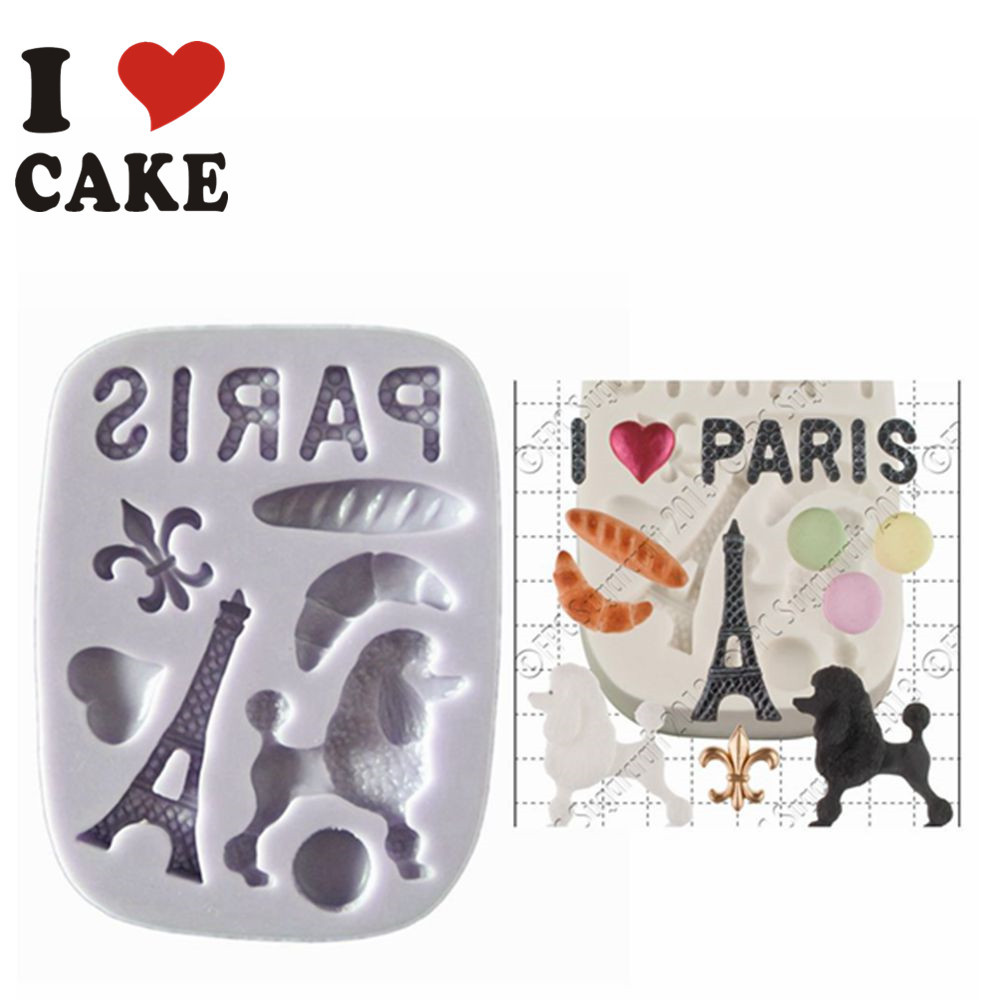 FA-811 SET Fimo Clay Craft Moldes Torre Eiffel de Chocolate Fondant - Cocina, comedor y bar