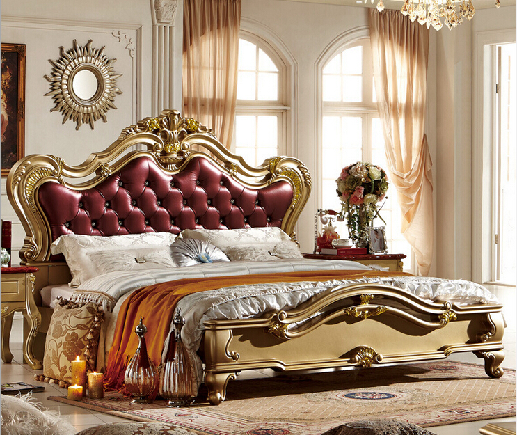 Elegant Classic Design Wooden Bed With High Quality