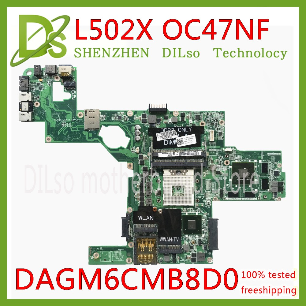KEFU C47NF 0C47NF CN-0C47NF Mainboard For Dell XPS L502X  Laptop Motherboard GT525M GT540M DAGM6CMB8D0 Test Work 100% Original