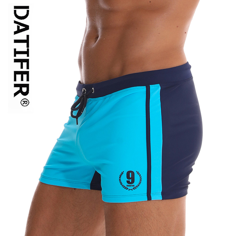 2020 Datifer Men's Swim Trunks Swimming Briefs Homens Maillot  Bain Trunks Swimwear Water Gay Men Suit Underpants Size XXL