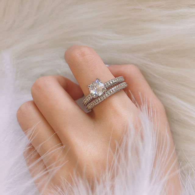 ZN Wedding Engagement Rings for Women  Rose Gold White gold Women Fashion 2