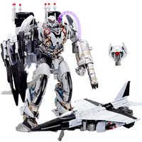 Transformacja Nitro Zeus tryb samolotu LS01 LS-01 TF Film Film KO Oversize Alloy figurka Robot kolekcja zabawek