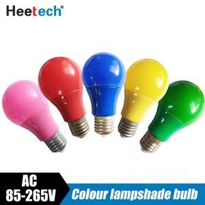 Image 2 - カラフルな LED 電球 E27 ランプ Led バーライト 5 ワット 7 ワット 9 ワットランプ赤青緑黄ピンクランパラ光 Ktv パーティー家の装飾照明