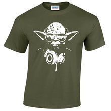 DJ YODA MENS T-SHIRT STAR TROOPER MUSIC STORM WARS JEDI FUNNY DESIGN Free shipping  Harajuku Tops Fashion Classic