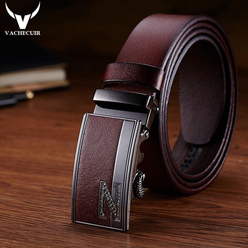 Da Uomo Designer Cinture PER UOMO AUTOMATICO NUOVO Cintura in Pelle Fibbia di Lusso a cricchetto