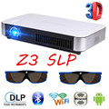 XGIMI Z3 + SLP Full HD LED Smart Beamer Proyector com Óculos 3D Mini Projetor DLP Andriod 4.4 WIFI Miracast Bluetooth Casa
