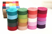 10 meters/lot 2016 New DIY Candy Color Knitted Thickening Taping Ribbons Belt Canvas Bag Webbing Bag Luggage Ribbons Wide 2.5cm(China)